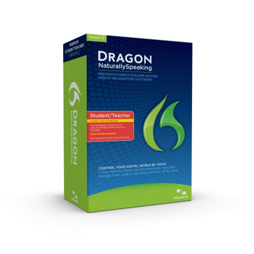 Dragon NaturallySpeaking Premium 12, English, Student/Teacher Edition