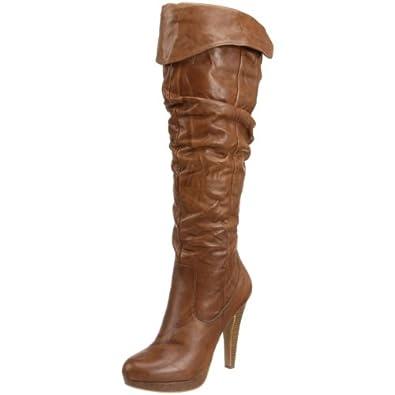 Jessica Simpson Women's Anne Boot,Dark Tan,5.5 M US
