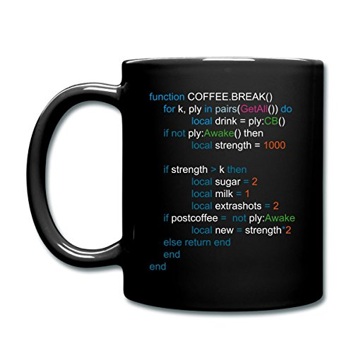 Coffee Break Code Anarchy Servers Full Color Mug by Spreadshirt, black