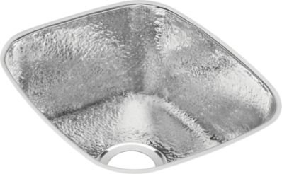 Elkay SCUH1416SH Hammered Mirror Gourmet 18 Inch X 16 Inch Single Basin  Undermount Stainless
