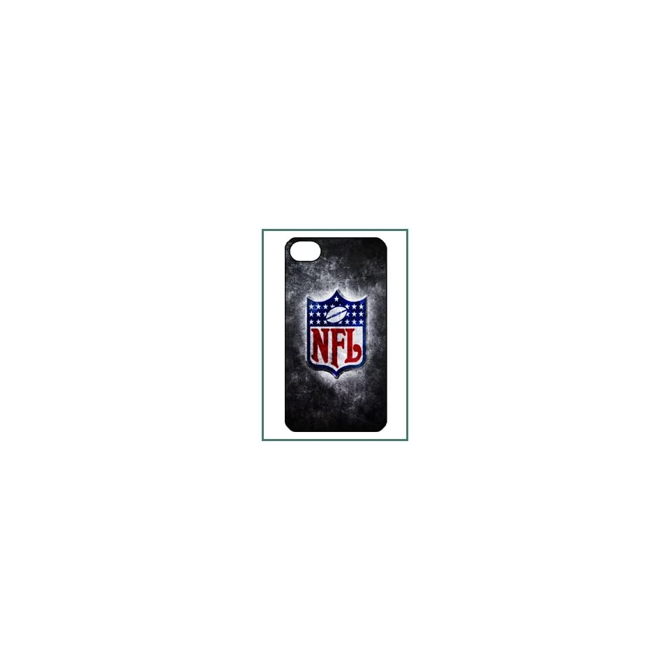 NFL National Football League American iPhone 4s iPhone4s Black Designer Hard Case Cover Protector Bumper
