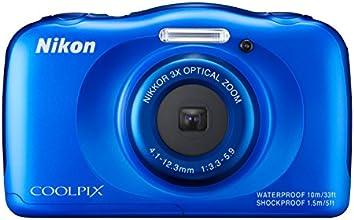 """Nikon Coolpix S33 Appareil Photo Numérique Compact 13,2 Mpix Écran LCD 2,7"""" Zoom Optique 3X Bleu"""