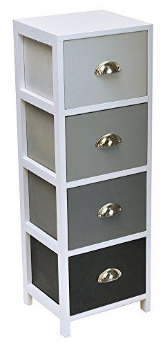 Kommode-mit-4-Schubladen-mit-Metallgriffen-Farbe-Abstufungen-GRAU