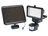 Bright White 60 Led Pir Motion Sensor Solar Panel Security Floodlight Lamp Garden Outdoor Light - Night Light For Gardens And Outdoors by Solalite