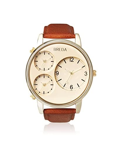 Breda Men's 1627-Gold Mitchell Multi Time Zone Watch