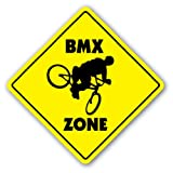 BMX ZONE -Sign- signs bike frame helmet cranks sticker
