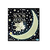 4M Glow-In-The-Dark Stars moon and stars (1 Mooon, 12 stars) ~ 4M