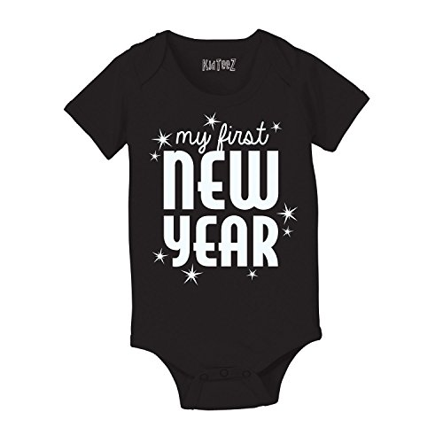 My First New Year Holiday Celebration Stars Cute Fun Party Infant Baby Bodysuit
