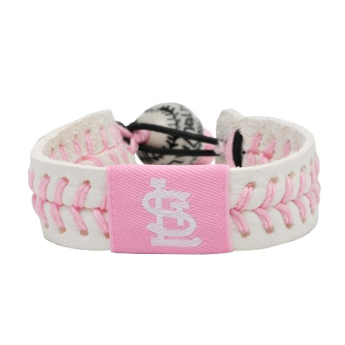 MLB St. Louis Cardinals Pink Baseball Bracelet at Amazon.com