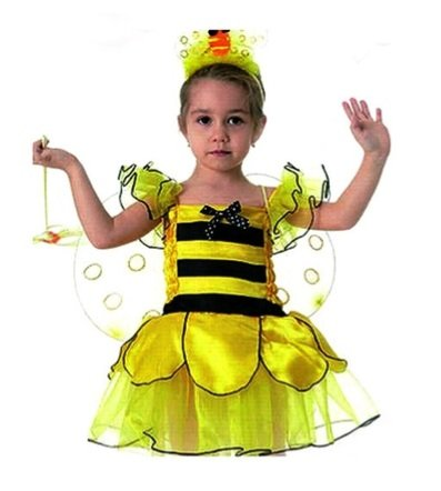 Bumble Bee 4pc Costume Set with Dress - Medium