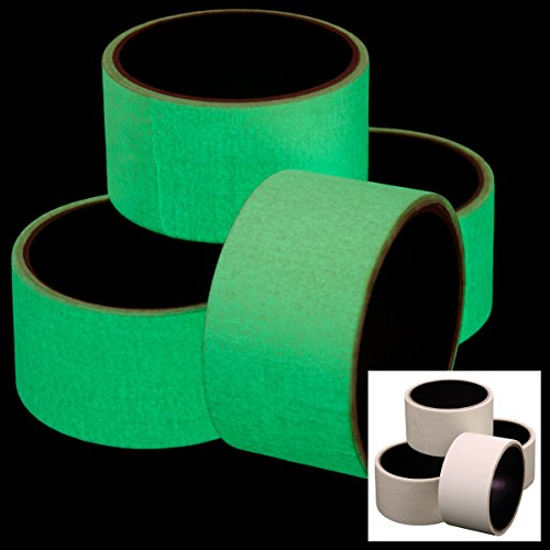 "4 Pack Rolls Glow In The Dark Glowing Duct Tape Kids DIY Craft Repairs 2""x10'/roll Decorative"