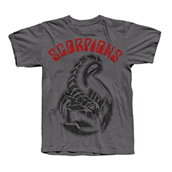 Scorpions Distressed Logo T-Shirt, Grey