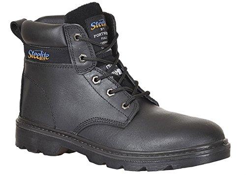 Pelle Steelite Thor Sicurezza Sul Lavoro Scarpone Scarpe Alla Caviglia Acqua Perfora Scivolo Resistente - Nero, unisex-adulto, 41 EU