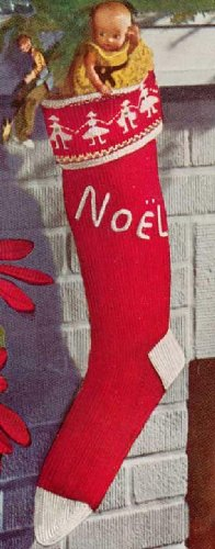 KNITTED CHRISTMAS STOCKING – Vintage 1951 Knitting Pattern – Kindle Ebook Download (X-mas, Santa, presents, gifts, fireplace, chimney, e-book, knit, yarn, craft, winter, holiday)