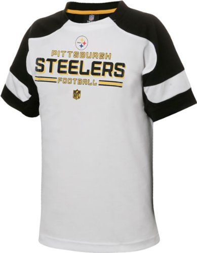 Pittsburgh Steelers Youth White NFL Coin Toss Short Sleeve T-Shirt