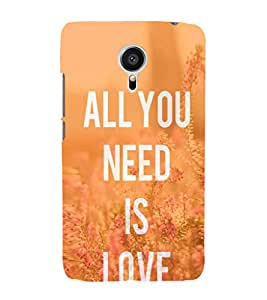 EPICCASE All you need is Love Mobile Back Case Cover For Meizu MX 5 (Designer Case)