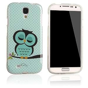 tinxi® Schutzhülle für Samsung Galaxy S4 Hülle TPU Silikon Rückschale Schutz Hülle Silicon Case mit Eule Owl Muster in Hellgrün