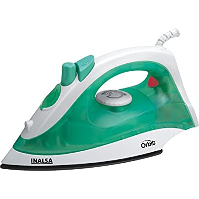 Inalsa Orbit 1200-Watt Non-Stick Coating Steam Iron (White/Light Green)