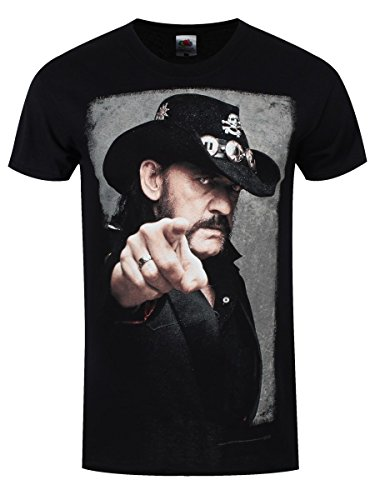 T-shirt Lemmy Portrait da uomo in nero