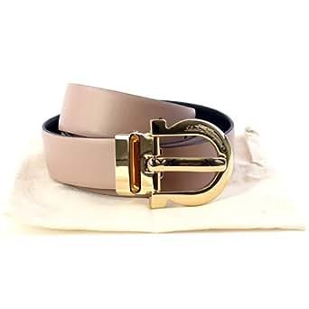 Amazon.com: S. Ferragamo Women's Belt 550054 Taupe 100x3 ...