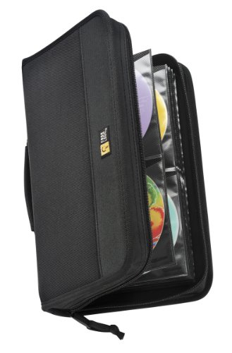 Case Logic CDW-92 Nylon CD/DVD Wallet 100-Capacity (Black)