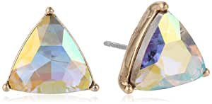 "Kensie ""Ice Ice Baby"" Gold Plated Triangle Stud Earrings"