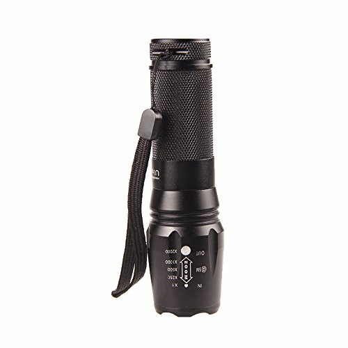 Top Yao 800Lm-1200Lm 10W Cree Xml-T6 Led Flashlight 5 Modes High - Middle - Low - Flash - Sos Waterproof Explosion-Proof Zoomable