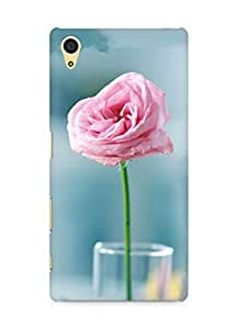 Amez designer printed 3d premium high quality back case cover for Sony Xperia Z5 (Pink Flower In The Glass Cup)