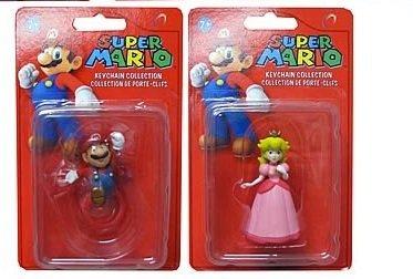 Super Mario Mario & Peach Keychaine - 1