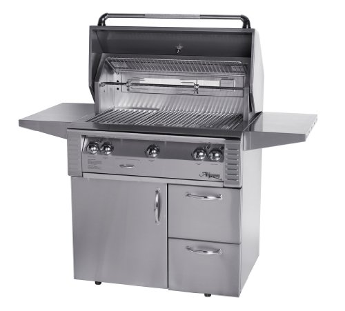 Alfresco Alx2-36Cd-Lp Lp Standard Grill With Deluxe Cart, 36-Inch