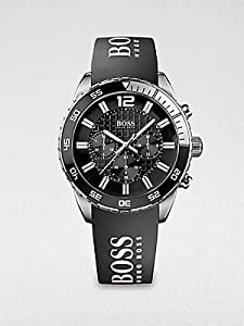 Hugo Boss Watch, Men's Chronograph Black Silicone Strap 44mm 1512868