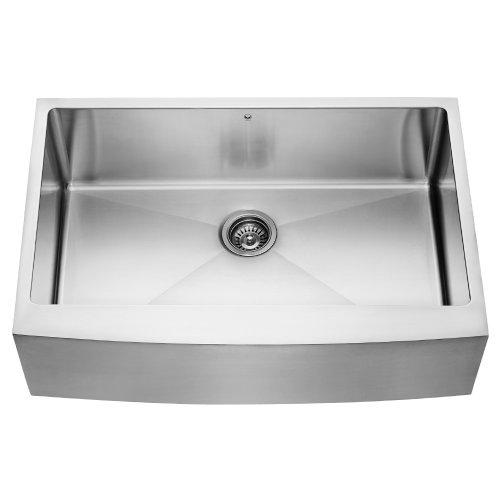 VIGO 33 inch Farmhouse Apron Single Bowl 16 Gauge Stainless Steel Kitchen Sink (Vigo Stainless Steel Sink compare prices)