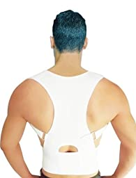 Posture Support and Back Pain Relief Adjustable Back Brace by Faburo, with Under - Arm Support Cushion, Chest Sizes 26\