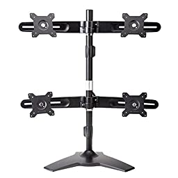Amer Mounts AMR4S: Quad Monitor Mount - Desk Stand -Displays up to 4/Four 24 inch Screens