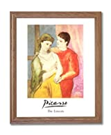 Picasso The Lovers Contemporary Home Decor Wall Picture Oak Framed Art Print
