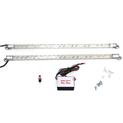 Two 46 Led Strobe Lights Red And White