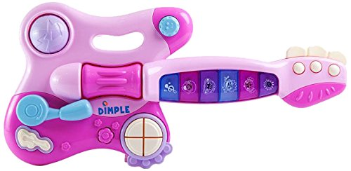 Dimple Toddler Electronic Toy Guitar with Music and Lights