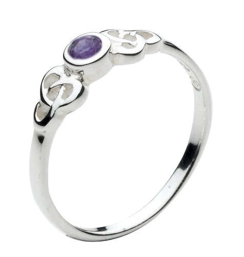 Heritage Sterling Silver Celtic Amethyst Round