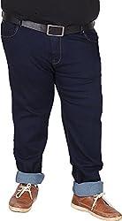 Xmex Men's Denim Jeans (AF-1011NAVY, Blue, 52)
