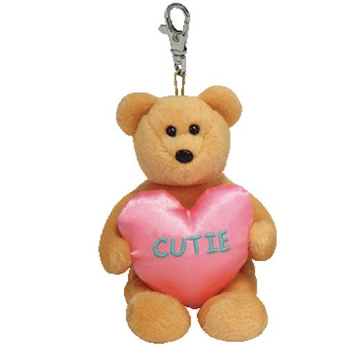 Ty Valenteenies You're a Cutie - Bear Keyclip - 1