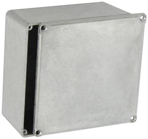 "Bud Industries Cu-474 Aluminum Econobox, 4-3/4"" Length X 4-3/4"" Width X 2-21/64"" Height, Natural Finish"