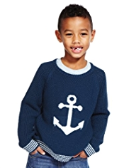 Anchor Print Knitted Jumper