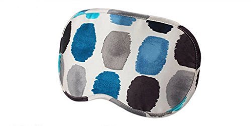 Mssilk Blue Dots Breathable Pure Silk Sleep Eye Mask With Brocade Pouch And Earplugs Gift Set