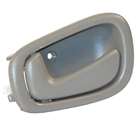 1998-2003 Toyota Corolla, Chevy/Chevrolet Prizm Gray Grey Front OR Rear Inside Inner Interior Door Handle Left Driver Side (1998 98 1999 99 2000 00 2001 01 2002 02 2003 03)
