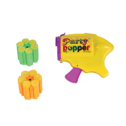New Party Popper Confetti Gun Novelty Toy with Refill Cartridge (6 shots per cartridge)