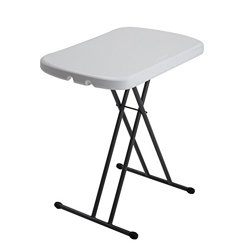 Lifetime 80251 Height Adjustable Folding Personal Table, 26 Inch, White Granite (Small Utility Table compare prices)