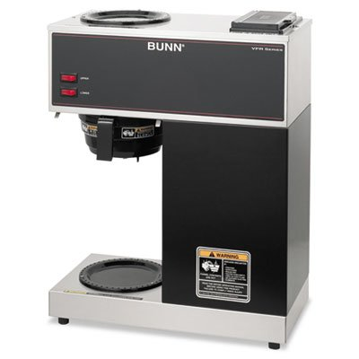 BUNN-O-MATIC * Pour-O-Matic Two-Burner Pour-Over Coffee Brewer, Stainless Steel, Black, Sold as 1 Each