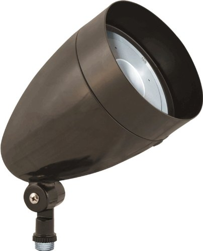 Rab Hbled10Ya Led Flood 10W Warm Led Bullet With Hood And Lens, Bronze Color
