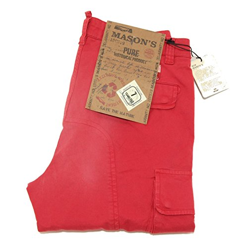 0077G pantaloni rossi MASON'S COTONE jeans uomo trousers men [48]