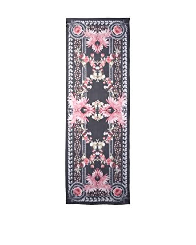 Givenchy Women's Silk Floral Scarf, Black/Pink